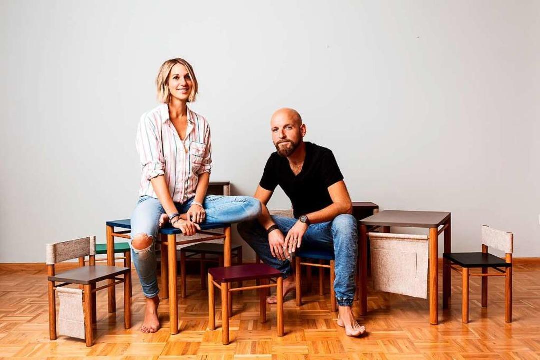 Coclio-Gründerin Elise Opezzo-Burger und ihr Mann Steffen Burger  | Foto: Jessica Schäfer