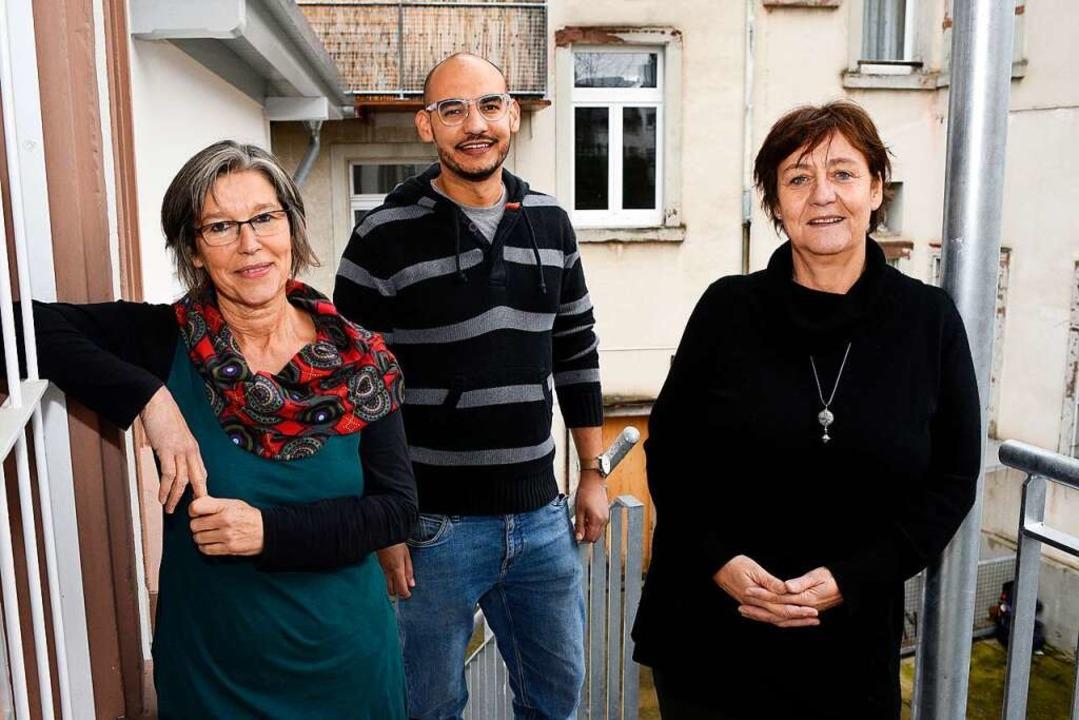 Sie geben Tipps, Infos und Ratschläge ...er (von links) von der Jugendberatung.    Foto: Thomas Kunz