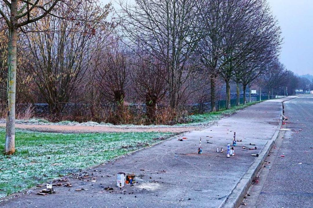 So wie auf diesem Gehweg in Nollingen ... an vielen Stellen in Rheinfelden aus.  | Foto: Lebeuch