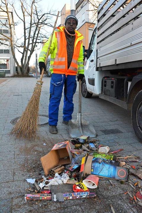 Silvester-Müll in Weil  | Foto: Hannes Lauber
