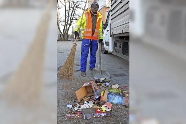Eine Tonne Müll beseitigt