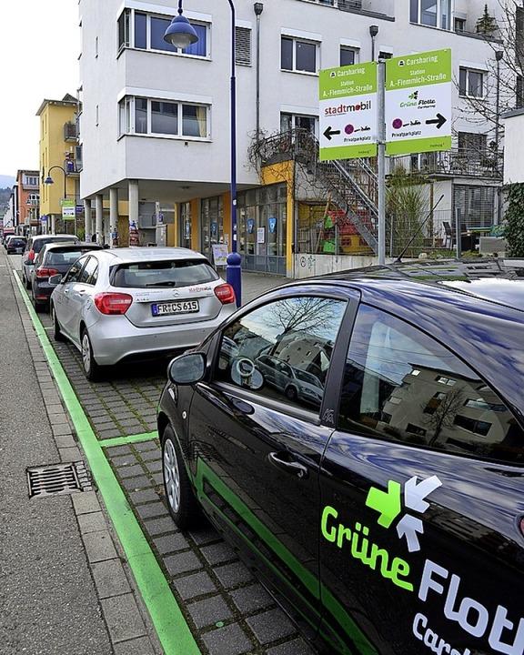 Car-Sharing-Station an der Vaubanallee  | Foto: Ingo Schneider