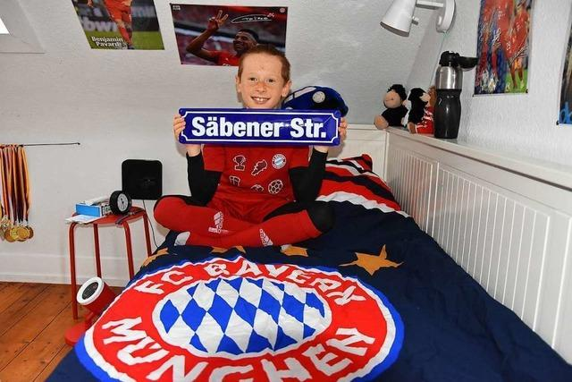 Achtjähriger Bayern-Fan: