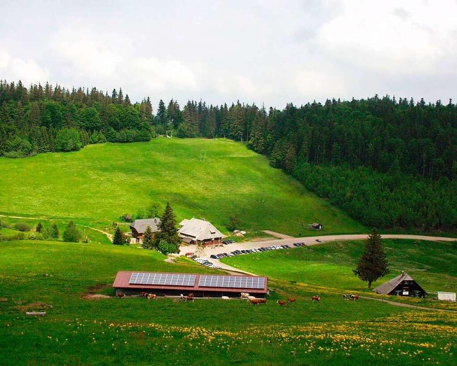 Die Stollenbacher Hütte im Sommer.  | Foto: Karlheinz Scherfling