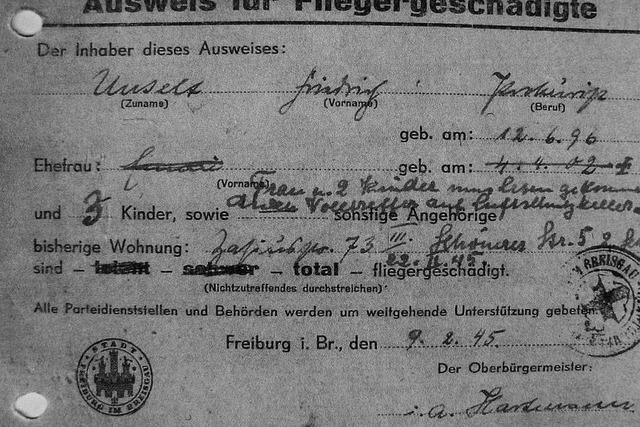 Freiburger Zeitzeugen erinnern sich an die Opfer der Bombardierung