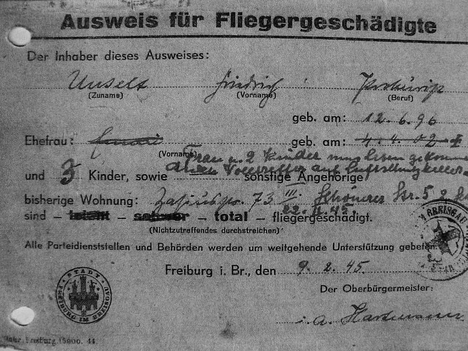 Dokument des Verlustes  | Foto: Jutta Zugschwerdt
