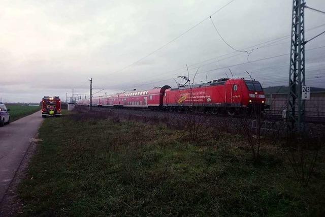 Bahnstrecke Müllheim-Schliengen derzeit nach Unfall gesperrt