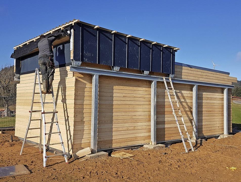 Das Rolldach wurde auf die Sternwarte ... Station  in Betrieb genommen werden.   | Foto: Phaenovum