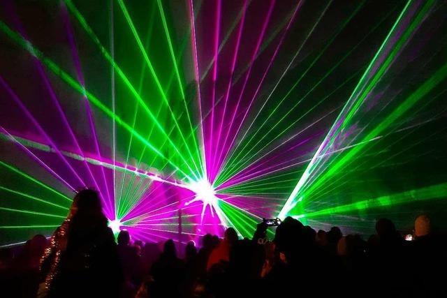 Lasershow statt Feuerwerk in Rimsingen – ein gelungenes Experiment