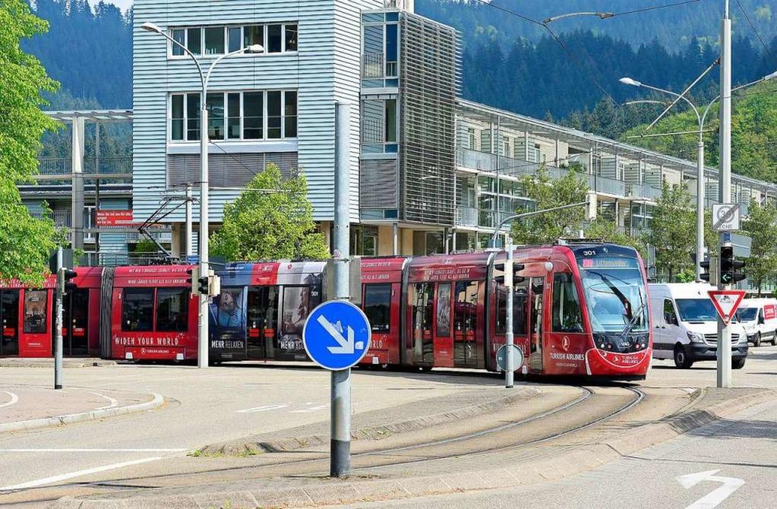 Von der derzeitigen Endhaltestelle Laß... weiter bis zum Kappler Knoten fahren.    Foto: Ingo Schneider