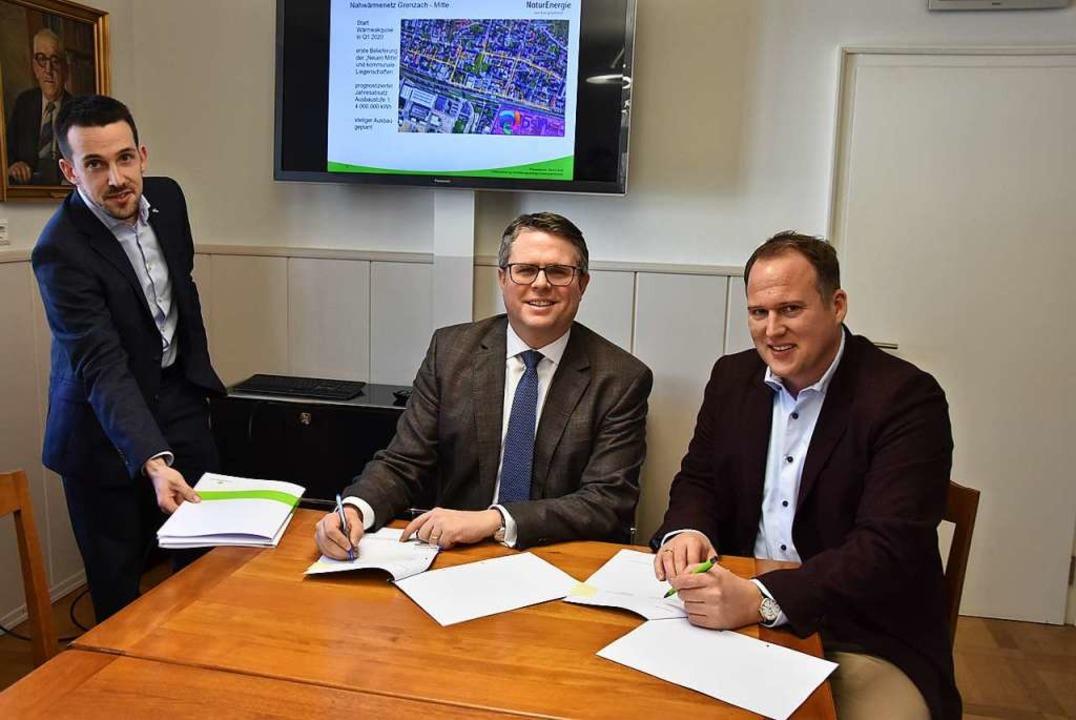 Partner (von links): Stefan Schlachter, Tobias Benz, Jörg Reichert  | Foto: Heinz und Monika Vollmar