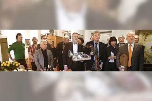 Weggefährten gratulieren dem Altbürgermeister zum 75.
