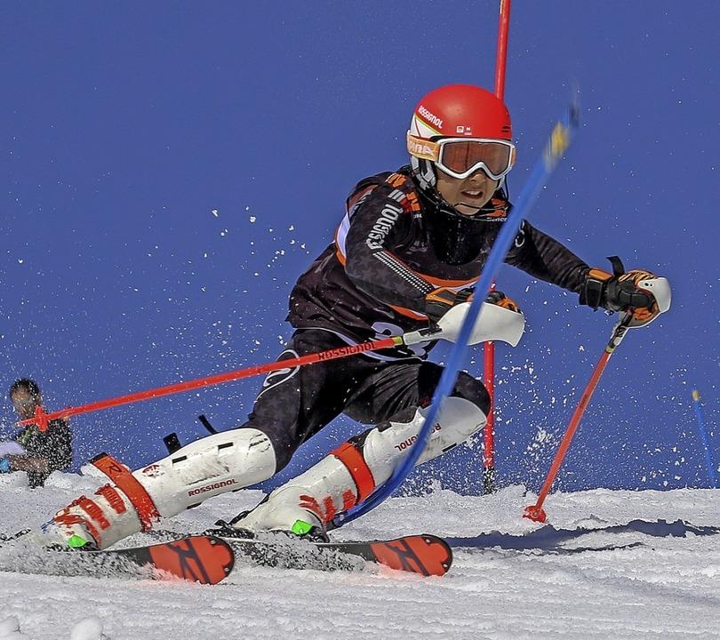 Leo Scherer war in der U-14-Klasse der Beste im  Slalom.  | Foto: Martin Siegmund