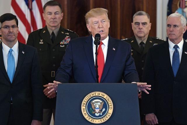 Trump: USA sind zum Frieden bereit