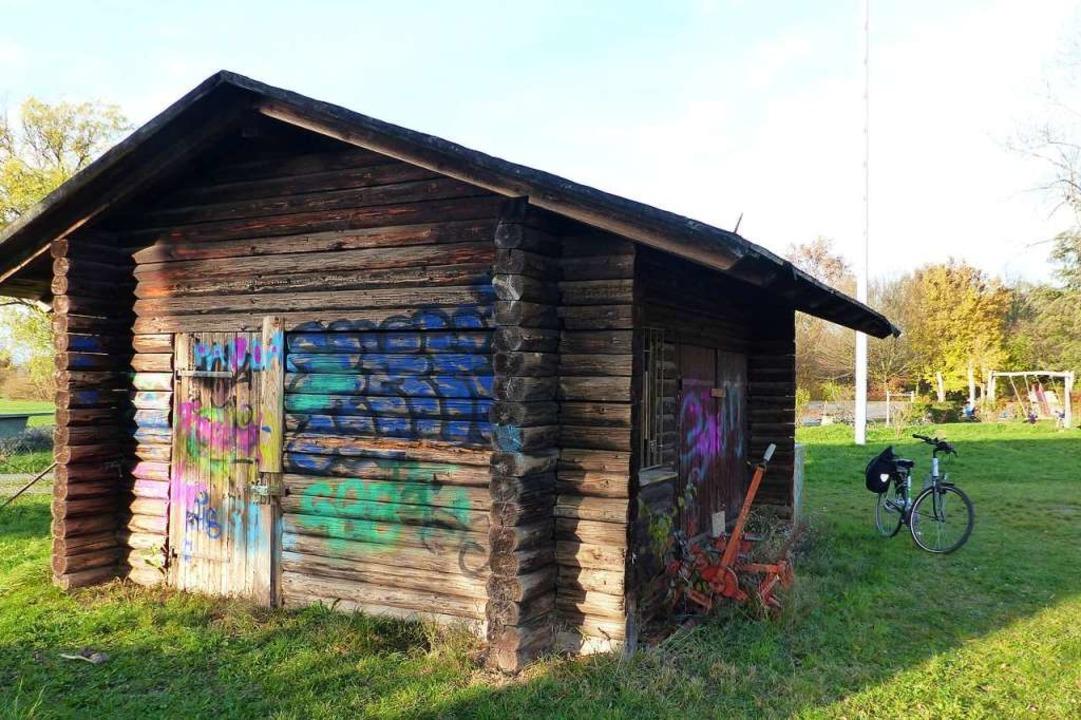 Diese Blockhütte sehen die Jugendliche...e Gemeinderäte äußern jedoch Bedenken.  | Foto: Claudia Bachmann-Goronzy