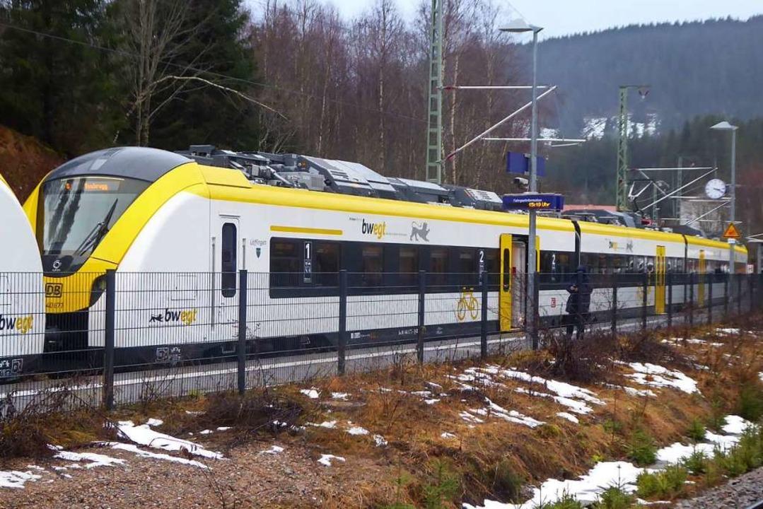 Beim Bahnhof Bärental (hier ein Bild v... vorübergehend Ersatzbusse eingesetzt.    Foto: Manfred Frietsch