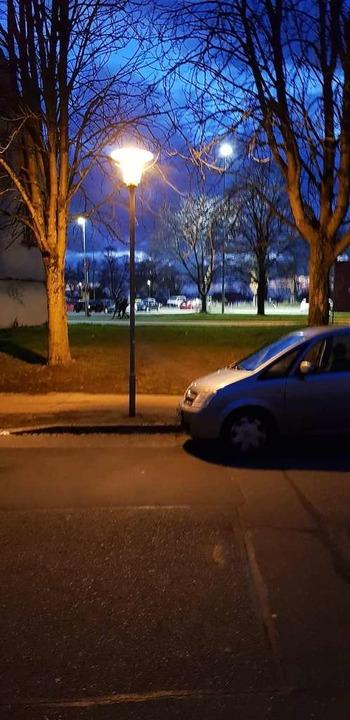 Beispiel Schwarzwaldstraße: Der Lichtk...gegenüberliegenden Gehweg zu erhellen.  | Foto: Gerhard Walser