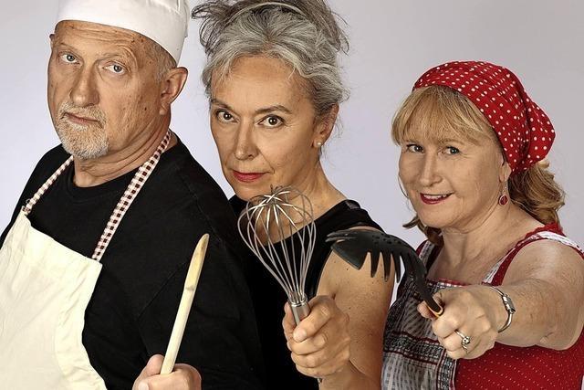 Tina Zimm, Pia Durandi und Dietmar Fulde mit