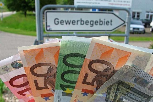 Erhöhte Gewerbesteuer soll Mehreinnahmen einbringen