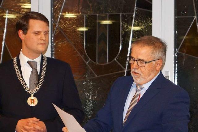 Vincenz Wissler als Badenweiler Bürgermeister vereidigt