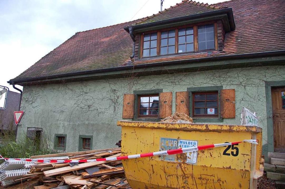 Das alte Ratsschreiberhaus zu Beginn der Bauarbeiten 2009.  | Foto: Andrea Gallien