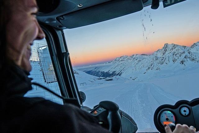 Skigebiete bieten Pistenraupen-Touren an