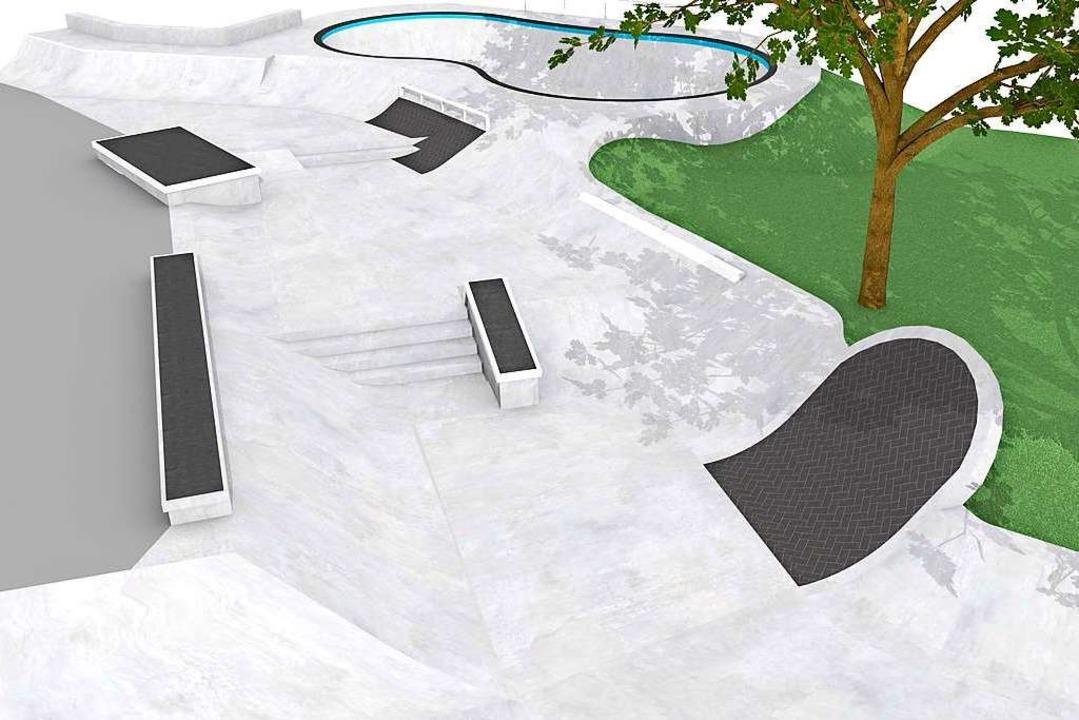 "Ausschnitt aus der geplanten Skate-Lan...drand der ""Backyard Pool"".  | Foto: Stadt Freiburg/Endboss"