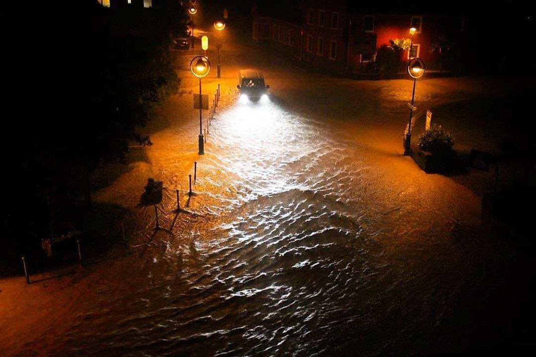 Wassermassen in Hochdorf im Jahr 2016    Foto: privat