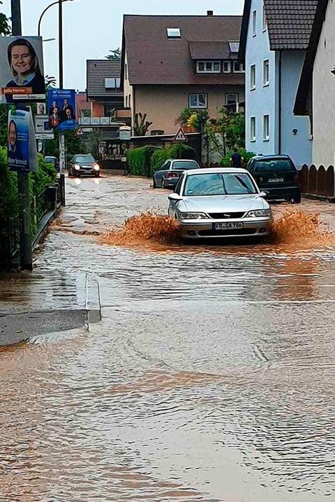 Im Mai 2019 stand Hochdorf wieder unter Wasser.    Foto: privat