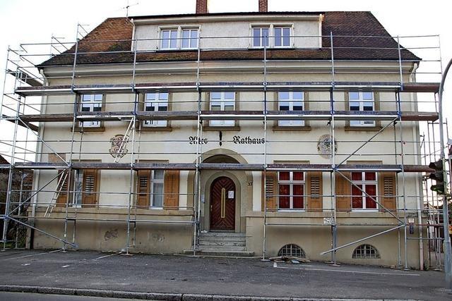 Sanierung des alten Rathauses beginnt