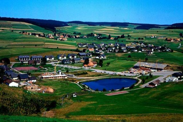 Vor 40 Jahren begann in Herrischried der Bau der Eishalle – in einem Sumpf