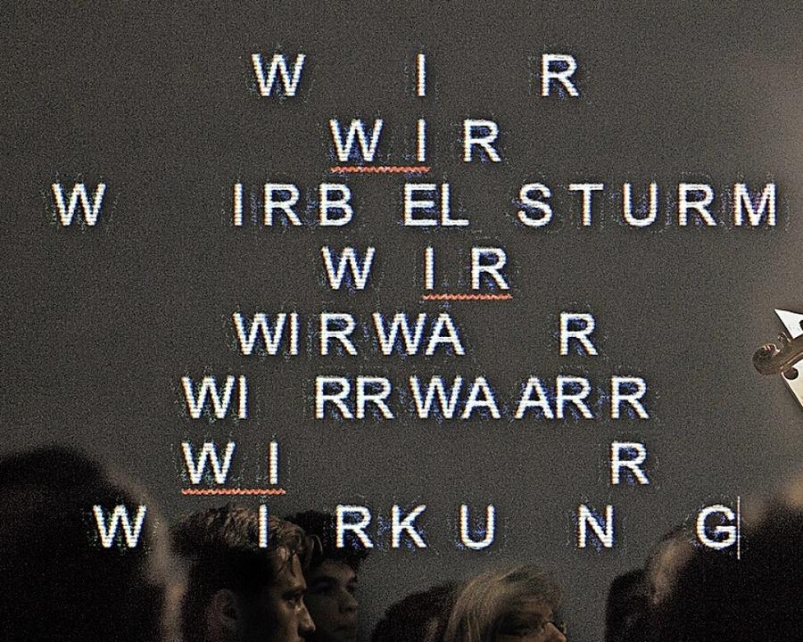 Wort- und Sprachspiele  | Foto: Cornelius Reitmayr