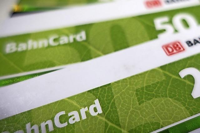 Bahncard zehn Prozent billiger