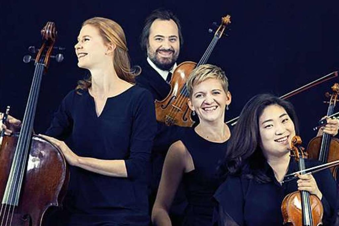 Das Artemis Quartett  | Foto: Fotos v. li. oben nach re. unten: Stev...ntja Wiech, Felix Broede. Montage: BZ.