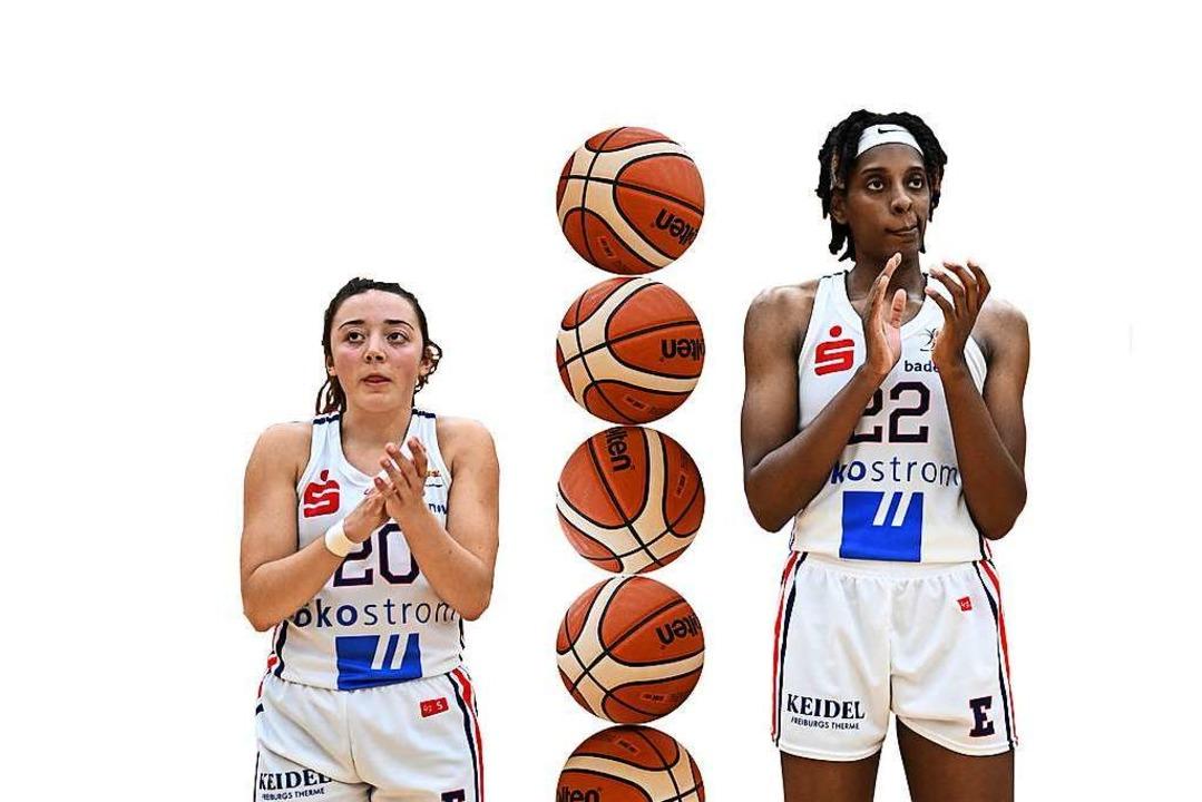 Jessica Genco und Alexa Hart trennen 29 Zentimeter Körpergröße.  | Foto: Patrick Seeger