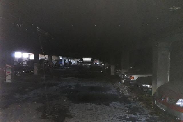 Millionenschaden nach Brand in einer Tiefgarage in Freiburg