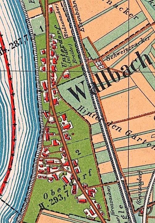 Im Jahr 1896 war nicht mehr die Rheins...n die Hauptstraße die Hauptachse Orts.  | Foto: Richard Kaiser