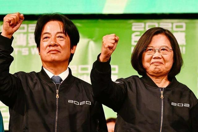Signal an Peking: Taiwans Präsidentin Tsai gewinnt Wiederwahl