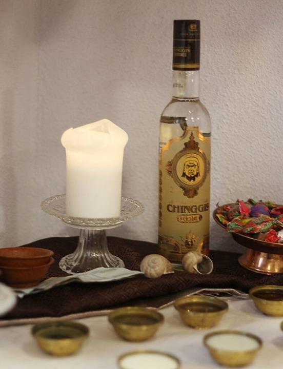 Das schamanische Sagrotan: Wodka    Foto: Joshua Kocher
