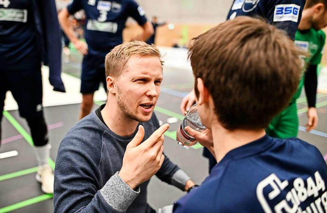 """Positiv ist, wie wir uns ins Sp...en"": FT-Trainer Jakob Schönhagen  | Foto: Patrick Seeger"