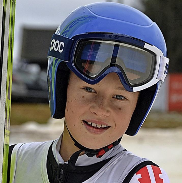 Zweiter der Schülerklasse S 13 auf der Jugendschanze: Amadeus Horngacher  | Foto: Helmut Junkel
