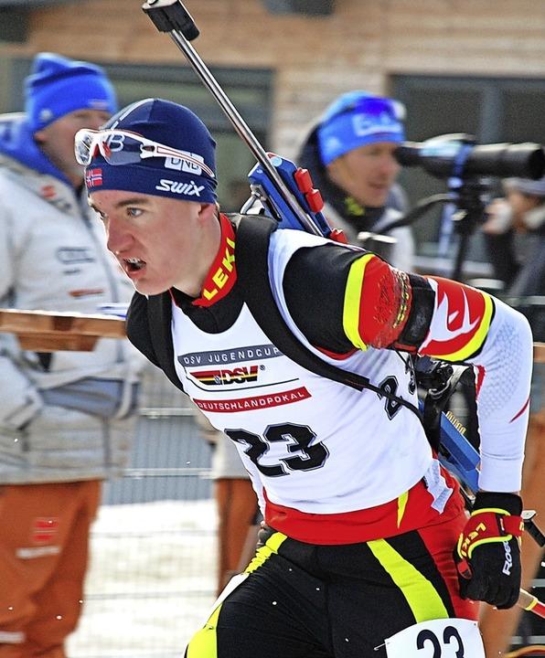 Nachwuchsbiathlet Fabian Kaskel vom SC...schlandpokal-Siege in der Klasse J17.   | Foto: ruoff