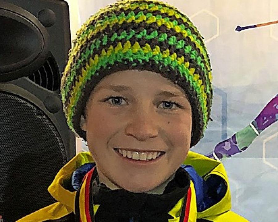 Mika Ketterer sprang beim Deutschen Sc...in der Kombination Silber und Bronze.   | Foto: Privat