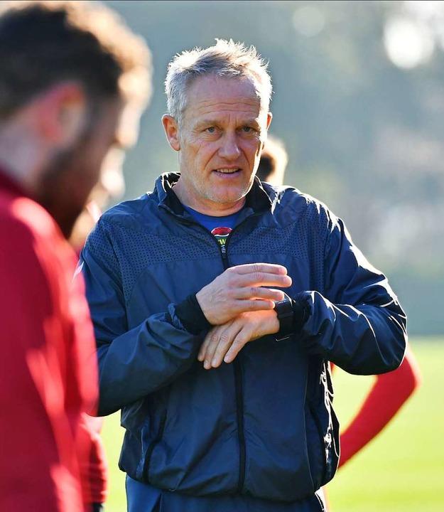 Noch bleibt SC-Trainer Christian Strei...Zeit bis zum Rückrundenstart in Mainz.    Foto: Achim Keller