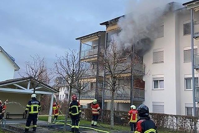 In Stein im Aargau wird eine Feuerwehrübung zum Ernstfall