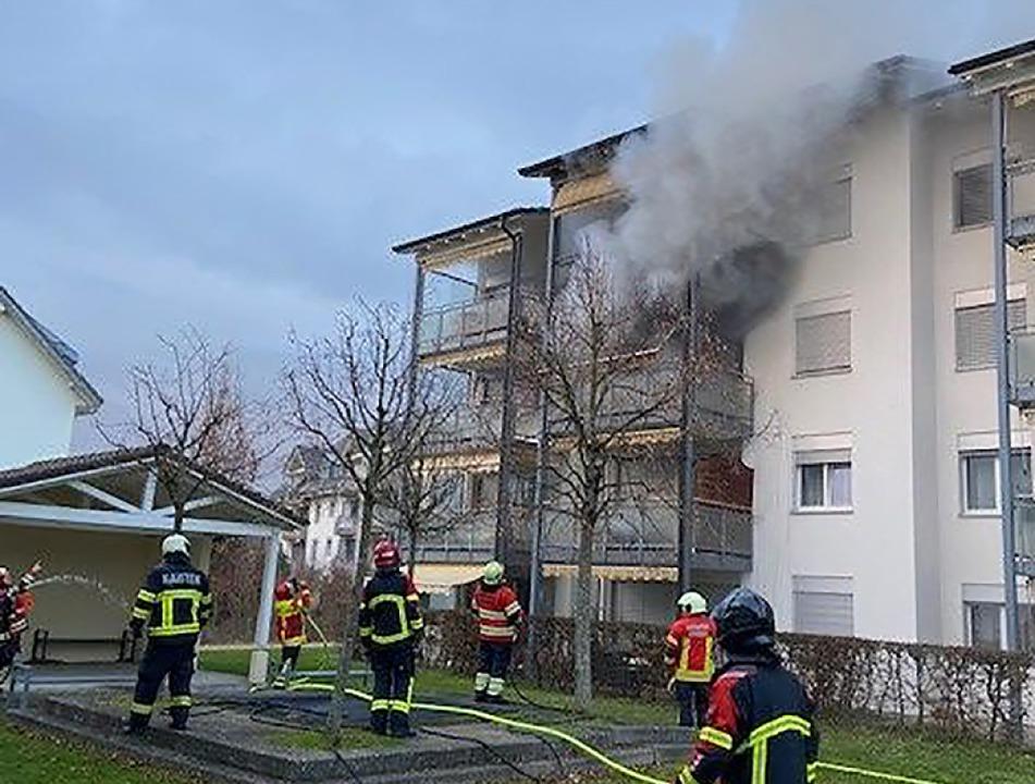 Der Brand in der Wasserwerkstraße  | Foto: Kantonspolizei Aargau