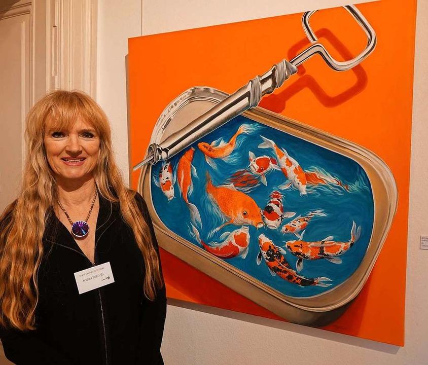 Die Malerin Andrea Berthel aus Rheinfe...erberich  in  Bad Säckingen beteiligt.  | Foto: Roswitha Frey