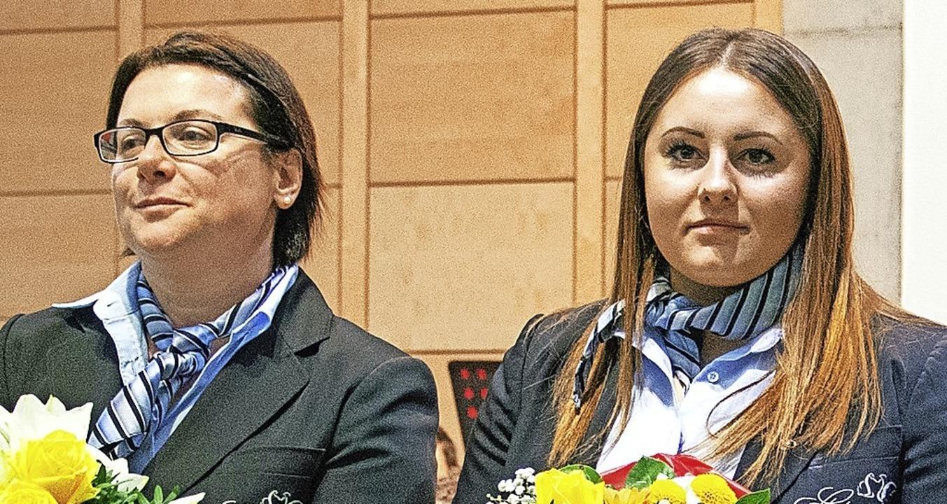 Beherrschten ihr Instrument auch solis...Chiara Ganio (links) und Steffi Welte.    Foto: Paul Eischet