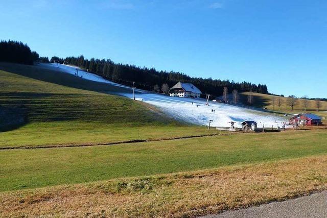 Im Schwarzwald gibt es bislang nur kleine Schnee-Oasen