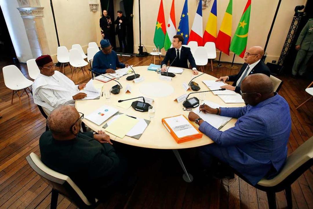 Afrika-Gipfel im französischen Pau  | Foto: Regis Duvignau (dpa)